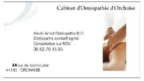 AMEIL Kévin Ostéopathe D.O. Orchaise