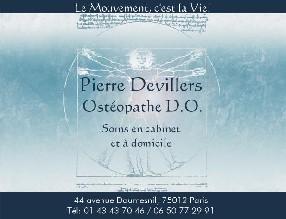 Pierre Devillers, Ostéopathe DO Paris