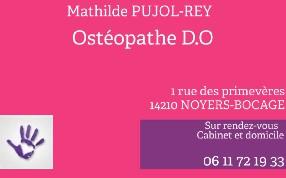 Cabinet d'ostéopathie Mathilde Pujol-Rey Noyers Bocage