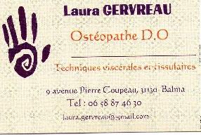 cabinet d'ostéopathie Laura Gervreau Balma