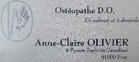 Anne-Claire OLIVIER, Ostéopathe D.O. évry