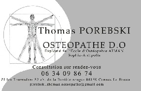 POREBSKI Thomas Ostéopathe Cannes