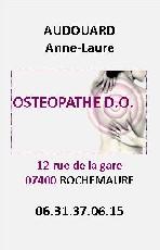 Audouard Anne Laure Ostéopathe  Rochemaure
