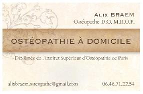 Alix BRAEM Ostéopathe D.O. M.R.O.F. Limours
