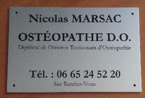 Cabinet d'ostéopathie Marsac Nicolas D.O.T.O. Castanet Tolosan