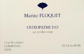 FLOQUET Marine CABINET D'OSTEOPATHIE  Combourg